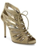 Jimmy Choo Keena 100 Cutout Suede Lace-Up Sandals