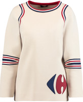 Anya Hindmarch Carrefour paneled cotton neoprene sweater