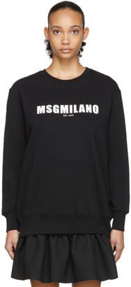 MSGM Black 2009 Logo Sweatshirt