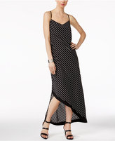 NY Collection Striped Asymmetrical Maxi Dress