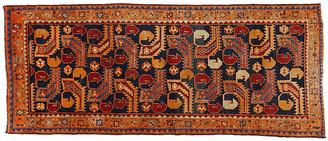"One Kings Lane Vintage Persian Hamadan Rug - 4' x 9'8"" - Esmaili Rugs & Antiques - navy/rust/multi"