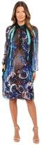 Alberta Ferretti Long Sleeve Sheer Floral Dress Women's Dress