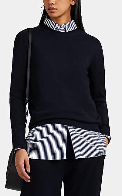 Jil Sander Women's Brushed Cashmere Crewneck Sweater - Navy