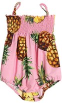 Dolce & Gabbana Pineapple Print Cotton Poplin Bodysuit