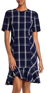 Shoshanna Layton Plaid Crepe Dress