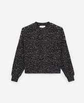The Kooples Black leopard print fleece sweatshirt