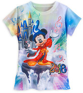 Disney Sorcerer Mickey Mouse and Friends Sublimated Tee for Girls - Walt World 2016