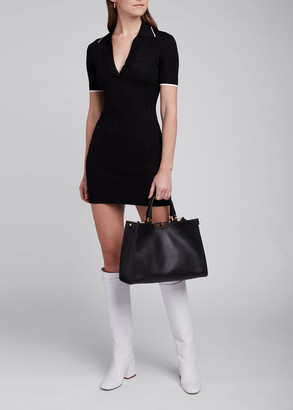 Fendi Logo-Jacquard Mini Polo Dress