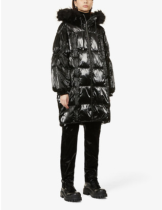 Pinko Christian quilted-down shell coat
