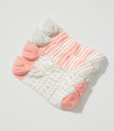 LOFT Geo & Stripe No Show Sock Set