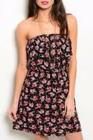 Solemio Black Floral Dress