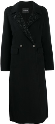 John Richmond Double-Breasted Wool Coat