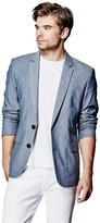 GUESS Men's Tristian Long-Sleeve Oxford Blazer