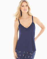 Soma Intimates Lace Trim Pajama Cami Navy