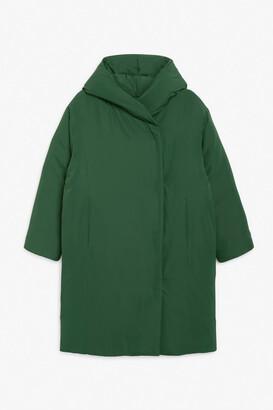 Monki Long puffer coat
