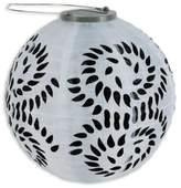 Allsop® GLOW Solar Powered Nylon Lantern in Black and White