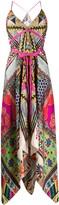 Etro bow detailed patterned slip dress
