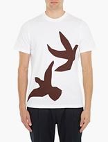 Oamc White Cotton Doves T-Shirt