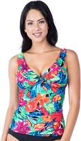 Chaps Women's Floral Ruched Tankini Top
