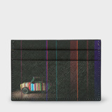Paul Smith Men's Black Leather 'Mini' Print Saffiano Leather Credit Card Holder