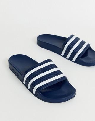 adidas Adilette slides in navy