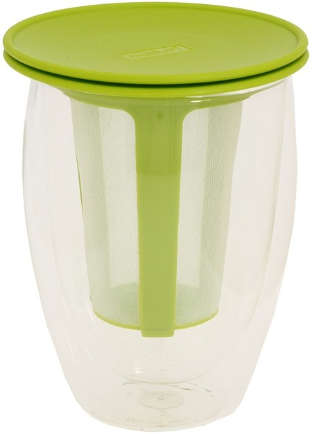 Bodum 12-Ounce Tea for One, Double Wall Glass with Strainer, Green (Green) - Home