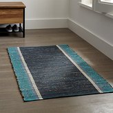 Crate & Barrel Quentin Blue Cotton Rug