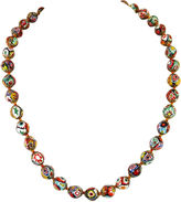 One Kings Lane Vintage Millefiori Glass Beads Necklace, Italy