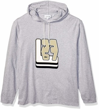 Lacoste Mens Long Sleeve 3D Jersey Hooded Tee Shirt T-Shirt
