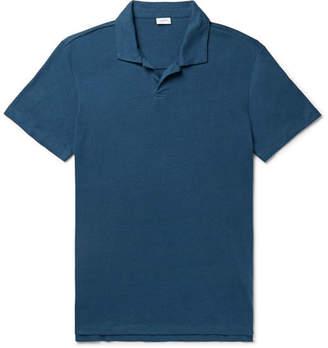 Onia Linen-Blend Jersey Polo Shirt