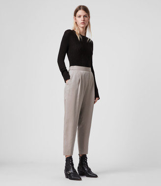 AllSaints Alva Tapered High-Rise Pants