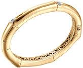 John Hardy Bamboo 18k Gold & Diamond Hinge Bangle