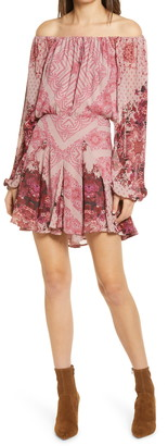 Free People Seven Wonders Long Sleeve Minidress