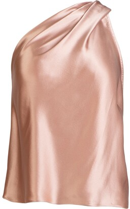 Mason by Michelle Mason One-Shoulder Silk Top