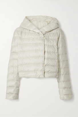 Max Mara The Cube Cropped Hooded Quilted Shell Down Jacket - Off-white
