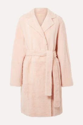 Yves Salomon Reversible Shearling Coat - Blush