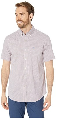 Dockers Short Sleeve Signature Comfort Flex Shirt (Sunset Orange Plaid) Men's Clothing