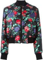 MSGM floral jacquard bomber jacket - women - Acrylic/Polyamide/Polyester/Metallic Fibre - 40