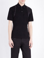 Alexander McQueen Harness cotton-piqué polo shirt