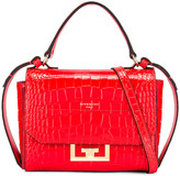 Givenchy Mini Eden Embossed Croc Bag in Red | FWRD