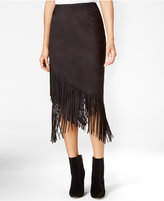 Rachel Roy Fringe Crossover Skirt, Only at Macy's