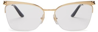 Cartier Core Cat-eye Metal Glasses - Gold