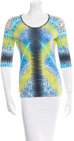Peter Pilotto Quarter Sleeve Printed Top w/ Tags