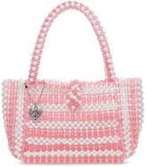 Betsey Johnson Women's Handbags PNK - Pink & White Just Bead It Mini Tote