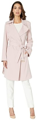 Vince Camuto Belted Trench V19722 (Dusty Pink) Women's Coat