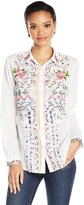 Desigual Women's Atenas Woven Long Sleeve Shirt, White, M