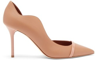 Malone Souliers Morrissey Point-toe Nappa-leather D'orsay Pumps - Nude