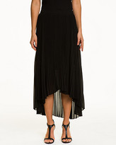 Le Château Pleated Chiffon Flared Skirt
