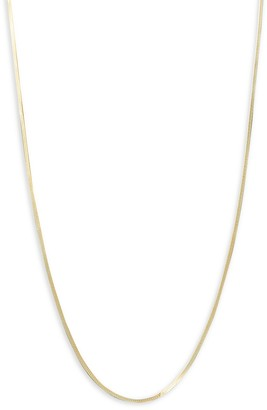"""Saks Fifth Avenue Made In Italy 14K Yellow Gold Herringbone Chain Necklace/20"""""""