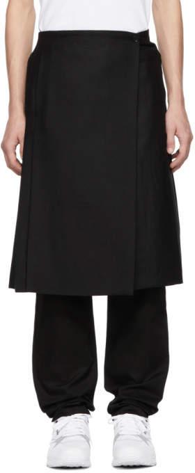 Burberry Black Wool Pleated Kilt